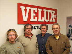 EnergyWize installers at Velux North America Training Center